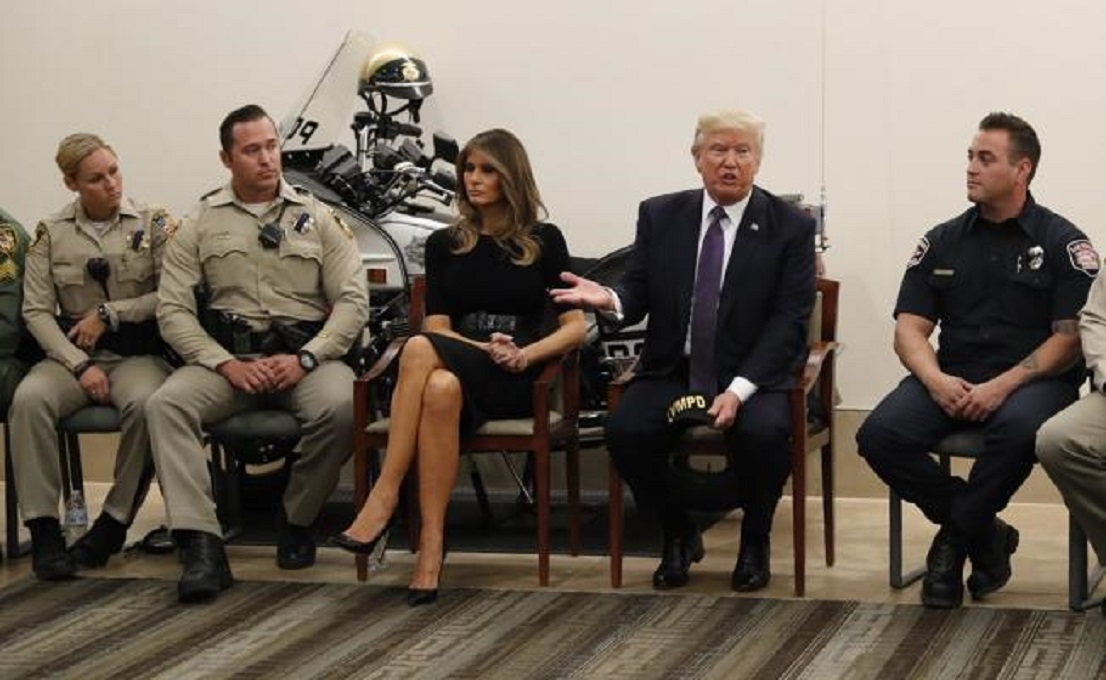 Estados Unidos, Donald Trump, University Medical Center, tiroteo en Las Vegas, Melania Trump