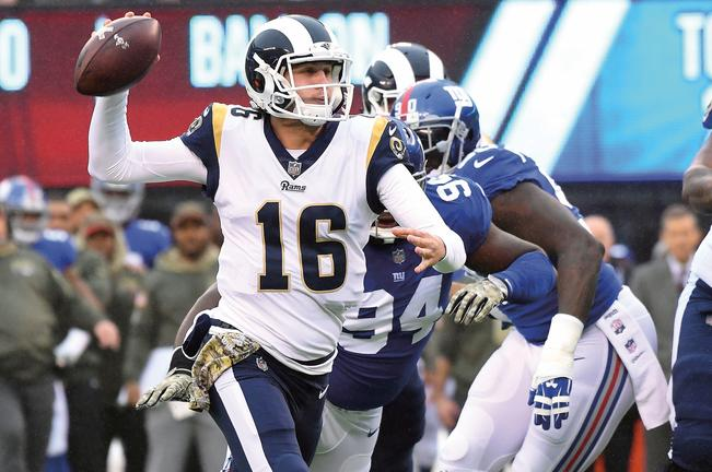 Jared Goff, Rams, Los Ángeles, California, Sean McVay, Nueva York, Giants, NFC, Londres, Cardinals de Arizona