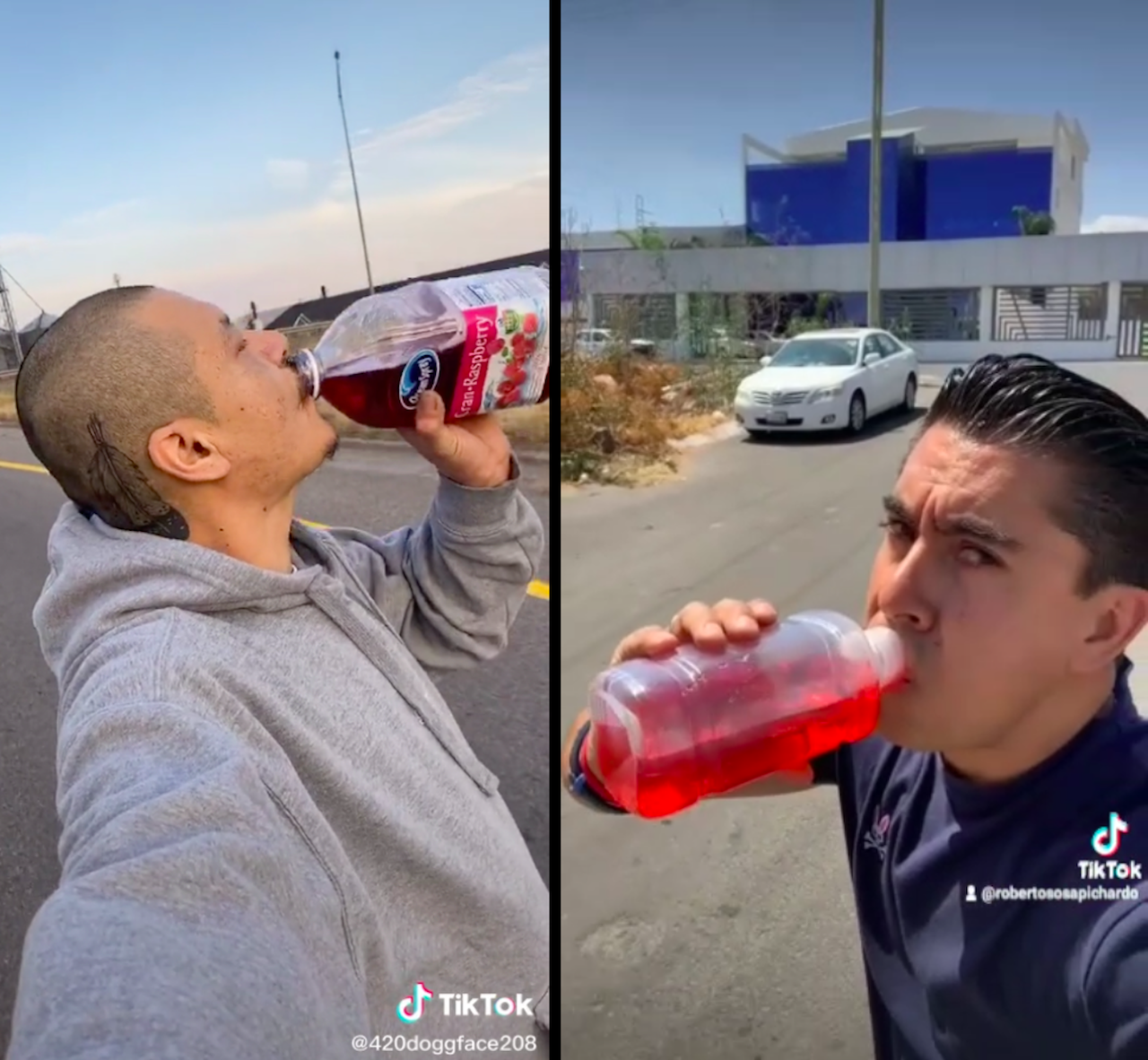 Con patineta y suero, Roberto Sosa recrea video viral