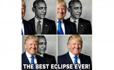 "Donald Trump, Twitter, meme, Estados Unidos, presidente, ""El mejor eclipse de la historia"", Jerry Travone, Barack Obama"